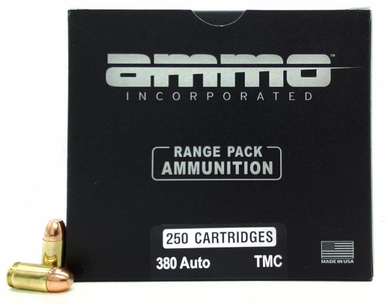 Ammo Inc 380 Auto 124gr TMC-FP 250rd Range Pack