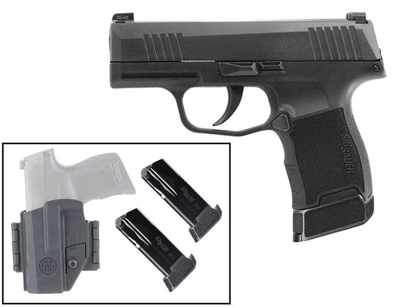 Sig Sauer P365 9mm Pistol Tac Pac w/ 3 12rd Magazines and Holster